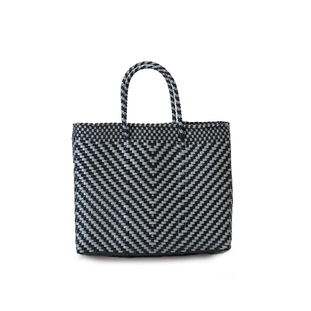 MERCADO BAG ESPIGA   - Silver x Black(XS)