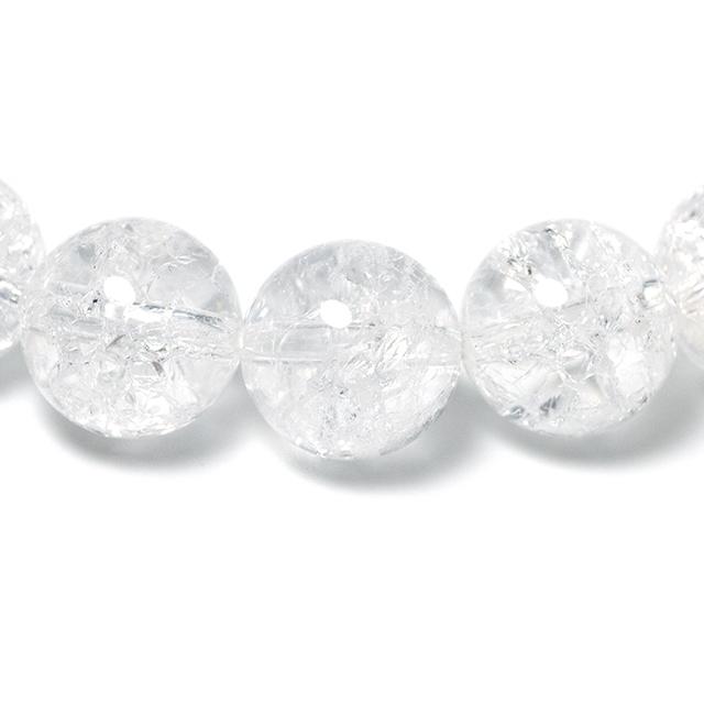 クラック水晶 10mm パワーストーンブレスレット