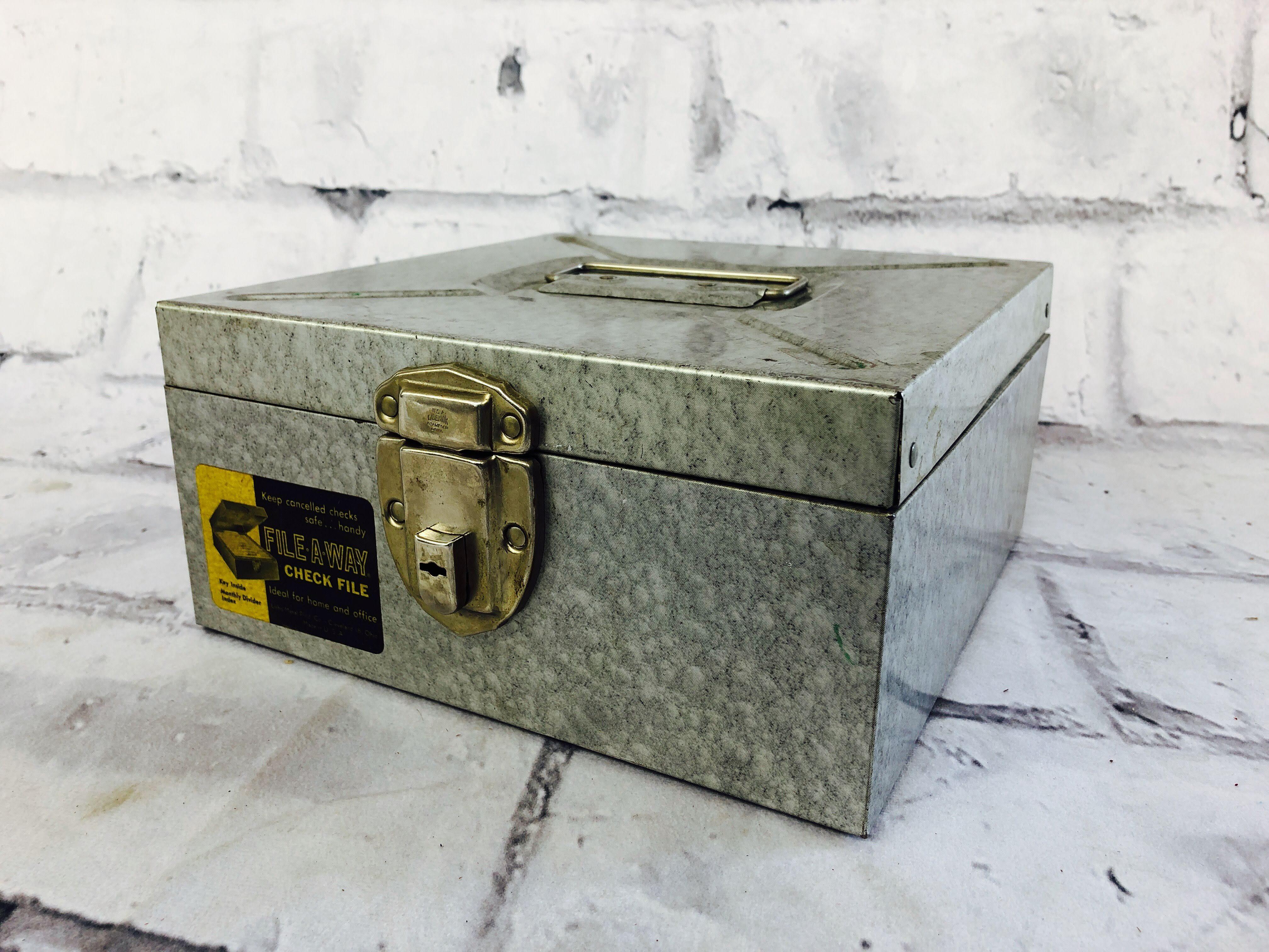 品番5520 メタルケース FILE A WAY ハンディケース ファイルケース ヴィンテージ