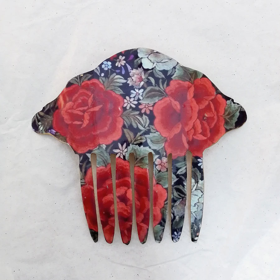 FE-Pn-A_PurezaRojo ペイネタA マントン刺繍柄・赤系  スペイン製