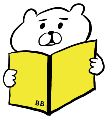 荷物や手紙に貼るラベルシール _ BBくまシリーズ