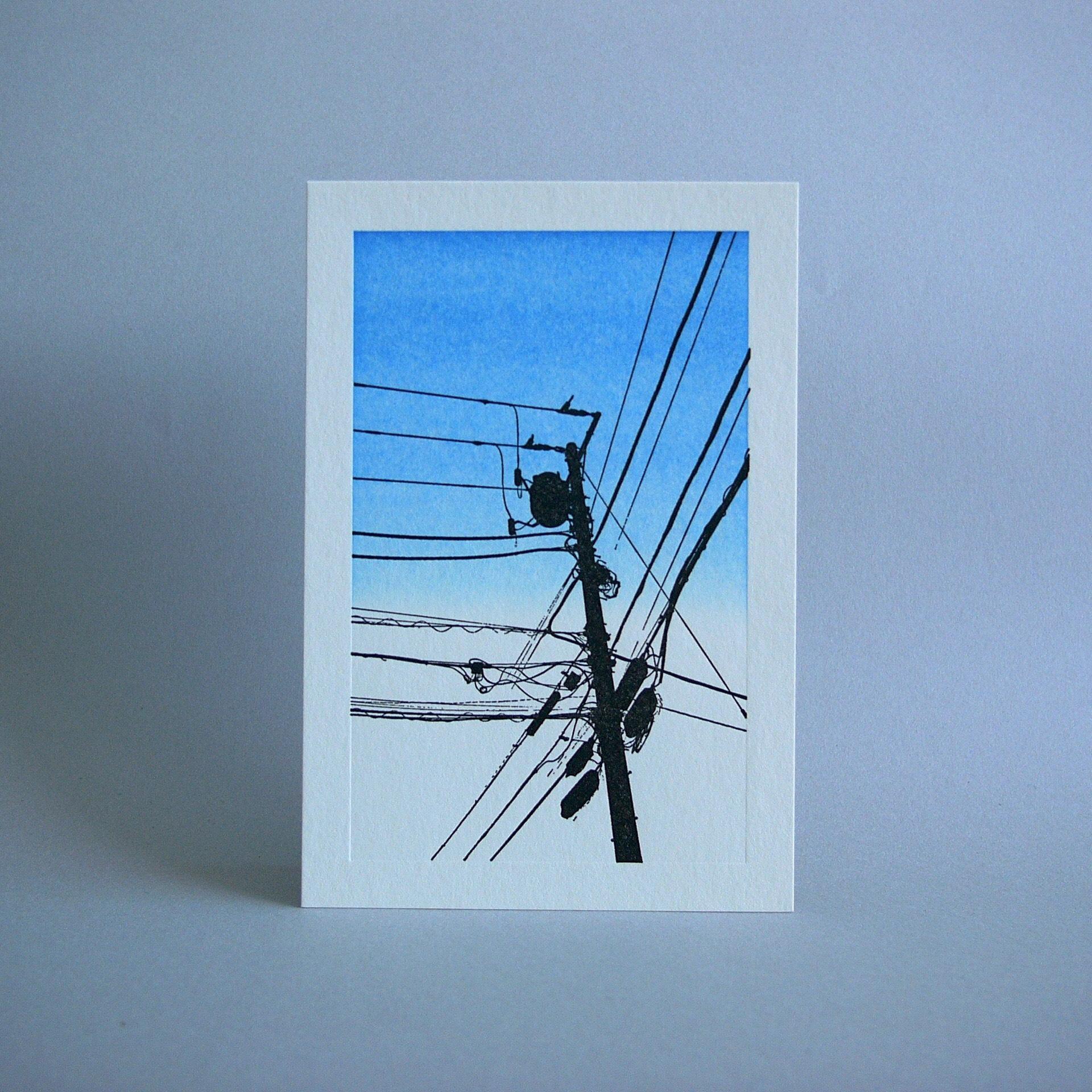 電信柱カード・青空