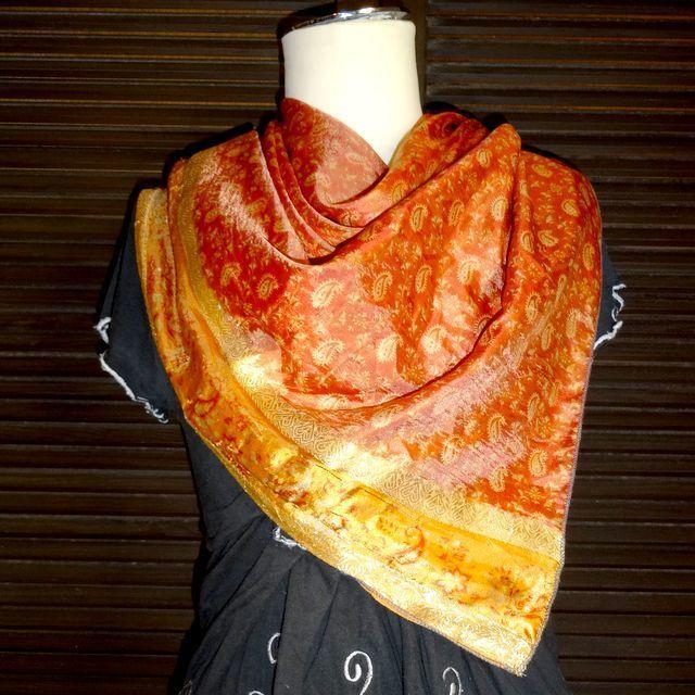 saris009 シルクサリーショール