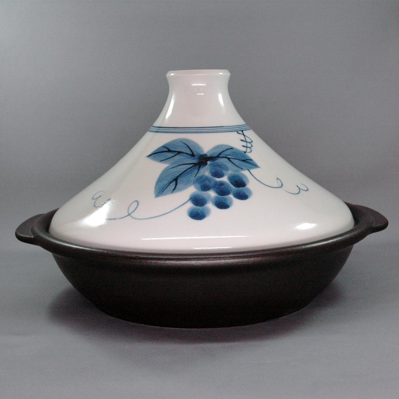 BIGタジン鍋 (ぶどう絵) 40-002-B
