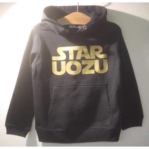 STAR UOZU キッズパーカー ブラック×ゴールド