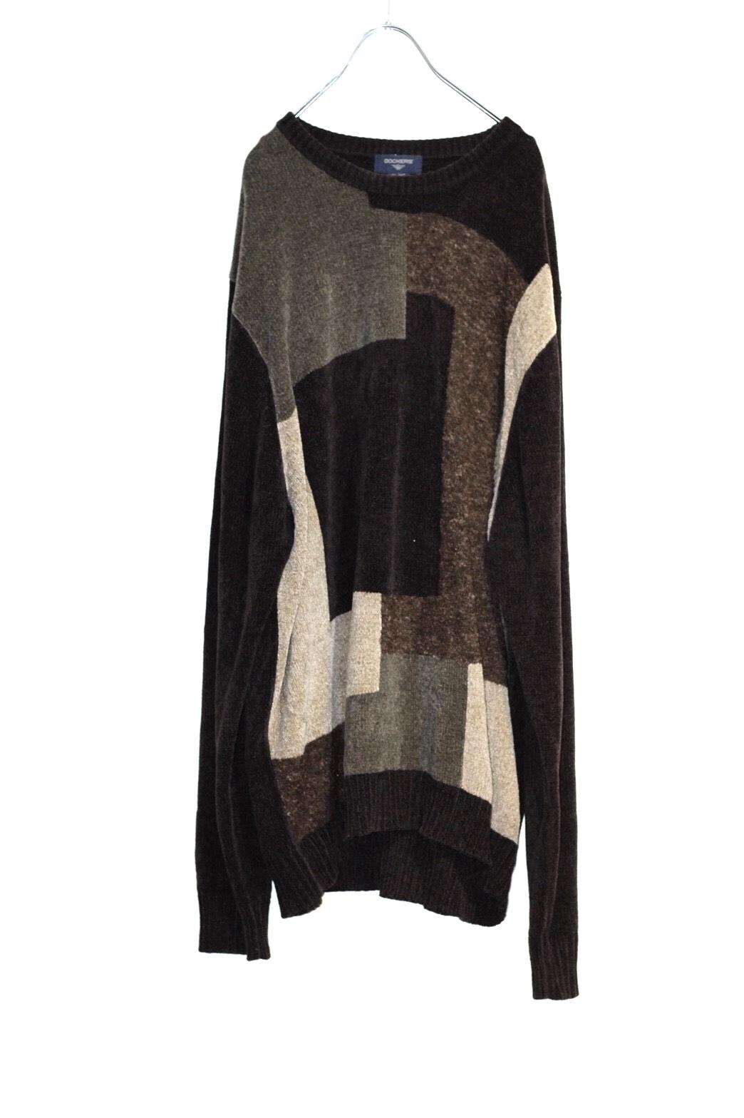 block pattern knit
