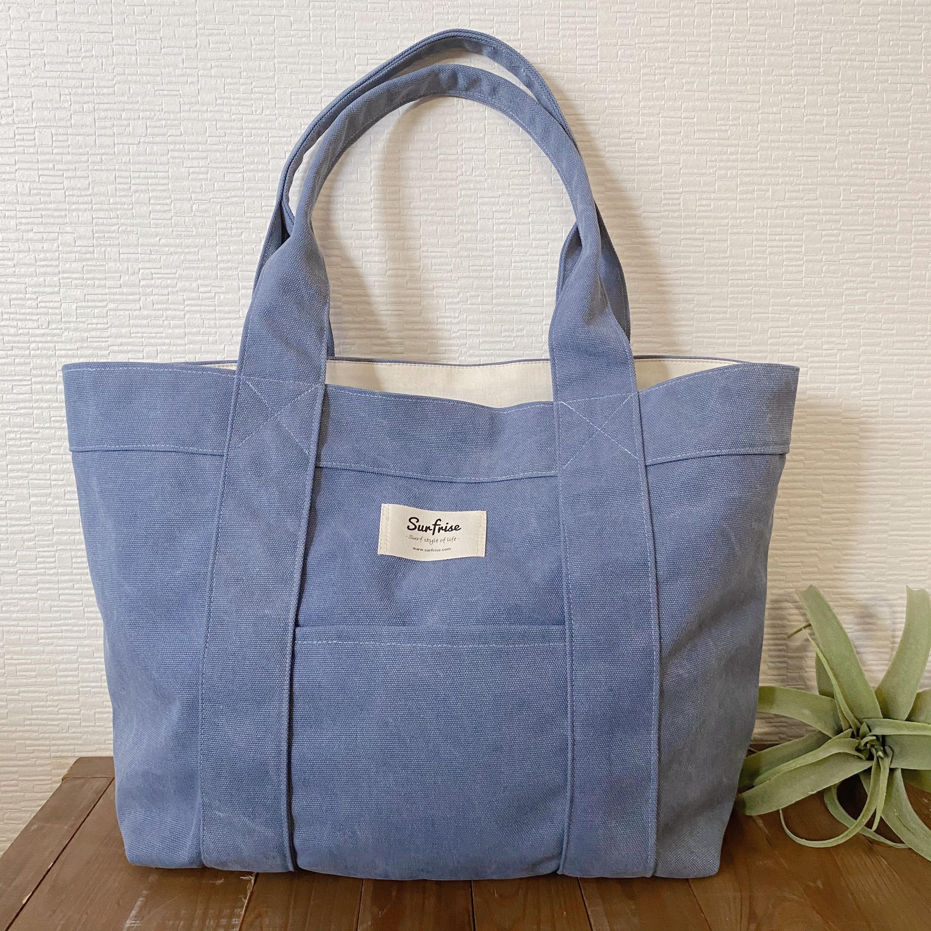 Tote bag L - Vintage blue