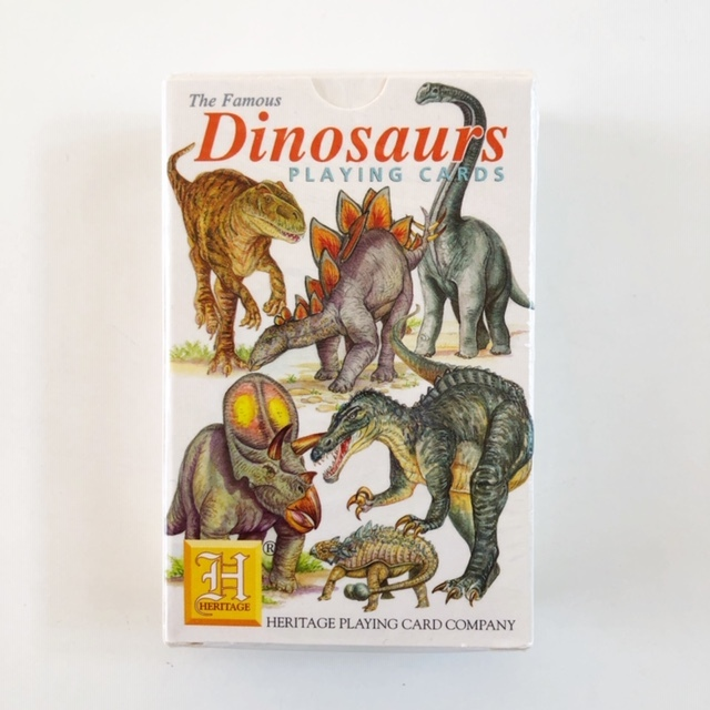 "HERITAGE  Playing Cards ""Dinosaurs"" トランプ"