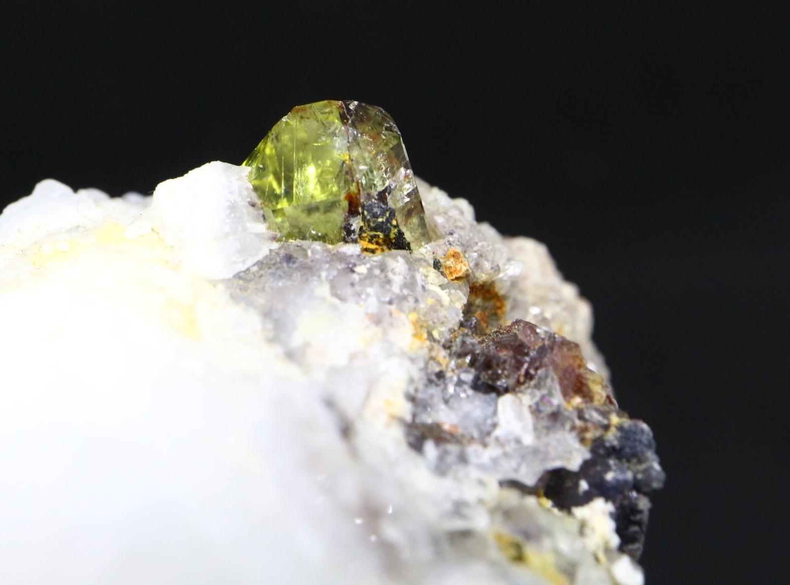 メキシコ産 アパタイト 母岩付き カルセドニー Apatite 41g AP012