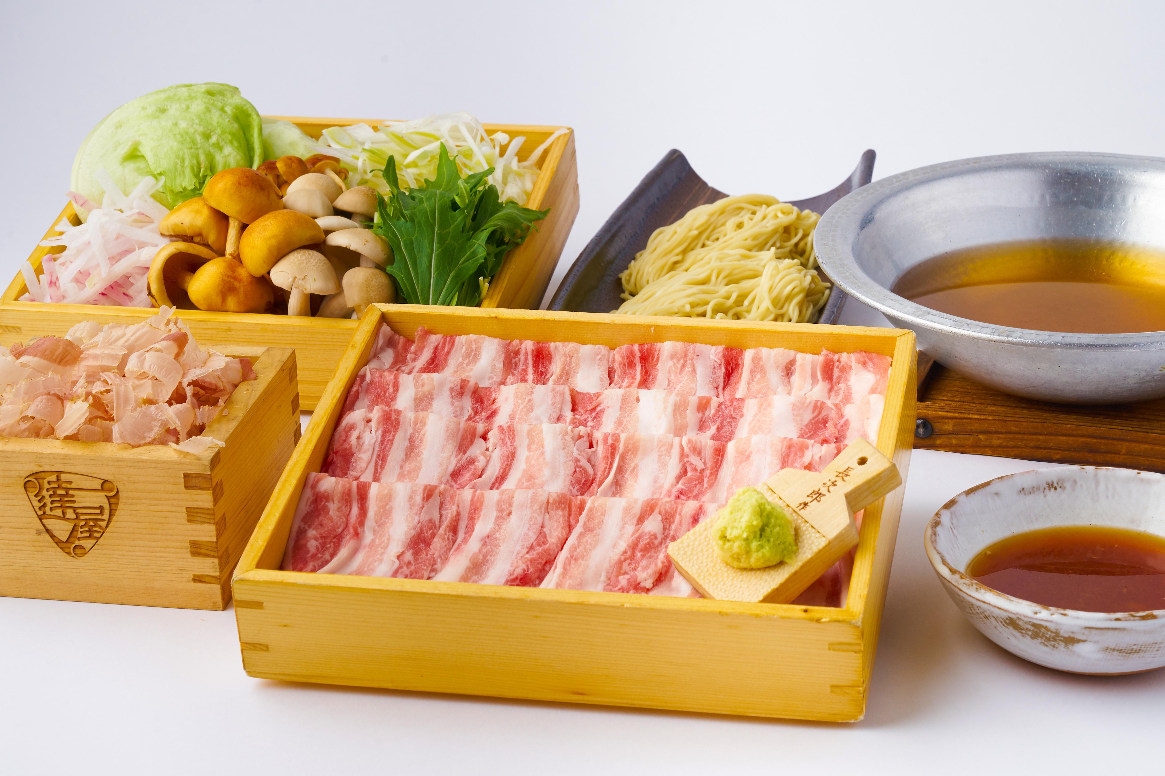 「北海道十勝放牧豚」究極の出汁しゃぶ 2人前セット
