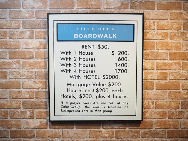品番2905 ホテルの価格表示板 BOARDWALK Wall Art