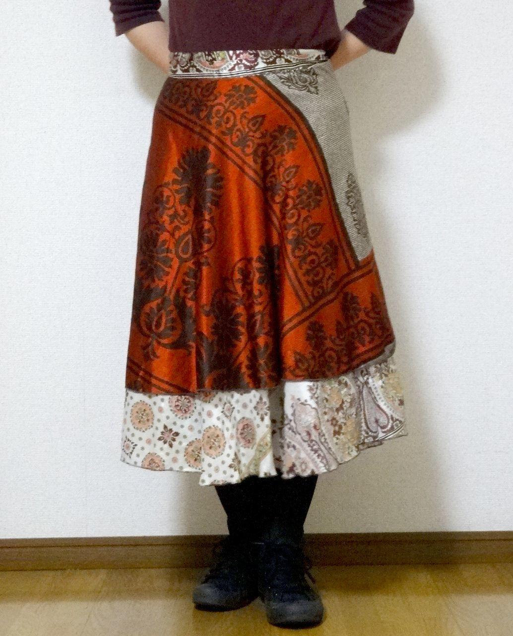 dss-027 シルクサリー巻きスカートショート