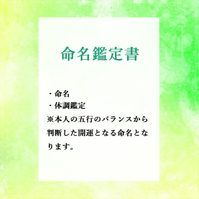 【鑑定書】命名鑑定書