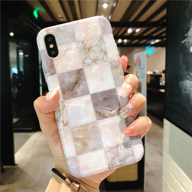 【お取り寄せ商品、送料無料】お洒落な大理石風 iPhoneケース