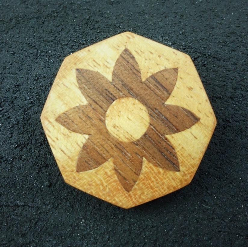 wooden inlaid charm IB-057-MGW