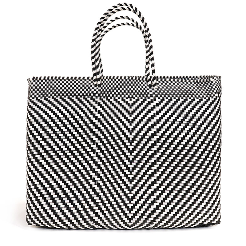 MERCADO BAG ESPIGA - Black x White(L)