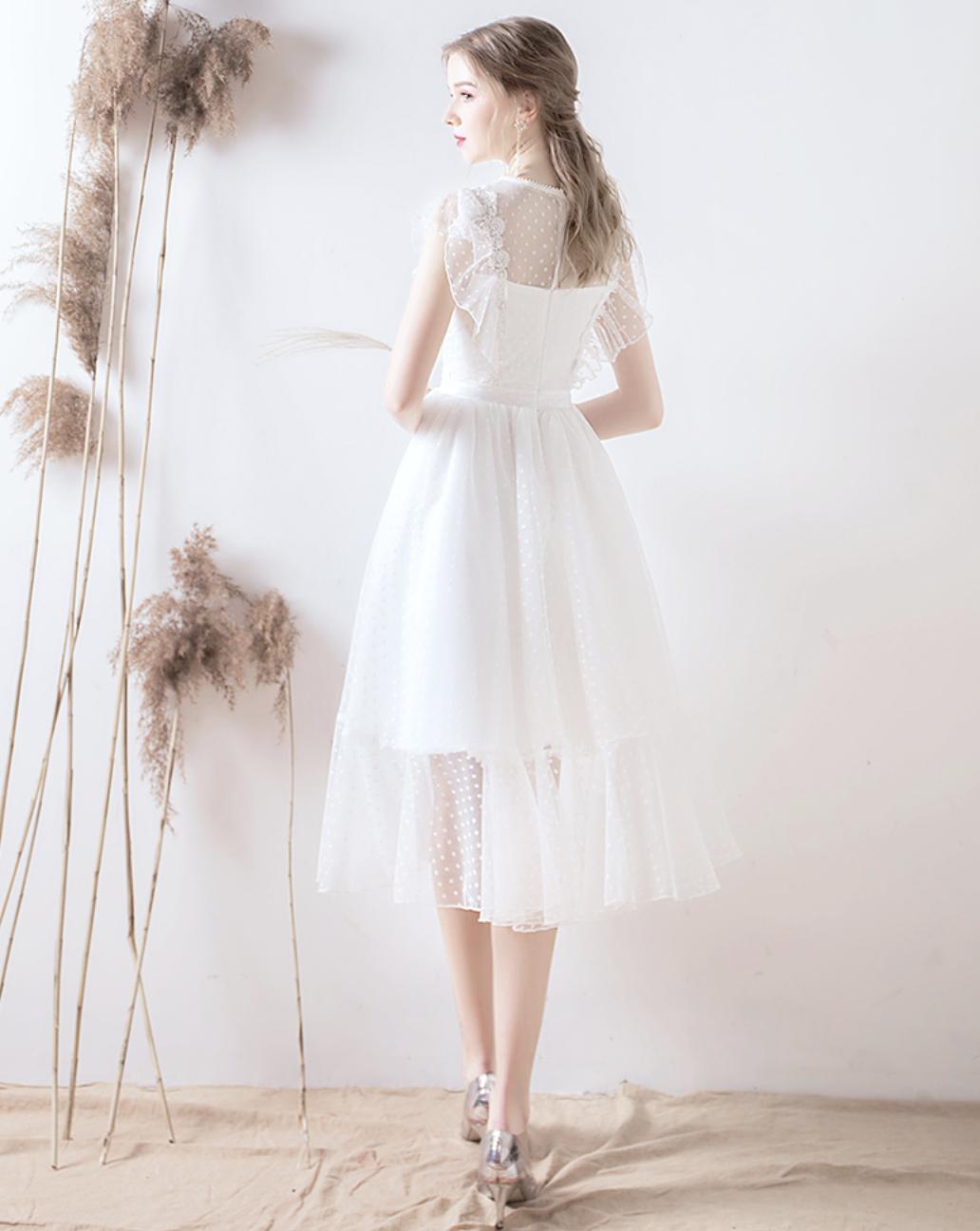 【DearWhite】ウェディングドレス Aライン プリンセス エンパイア デコルテ 結婚式 披露宴 二次会 パーティーウェディングドレス・カラードレス・サイズオーダー格安オーダーメイド DW00016