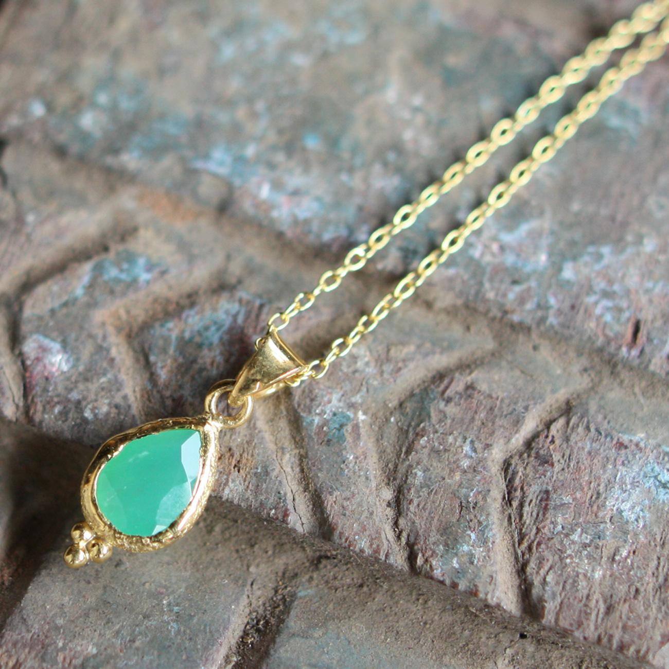 Jaipur gem ネックレス -emerald-