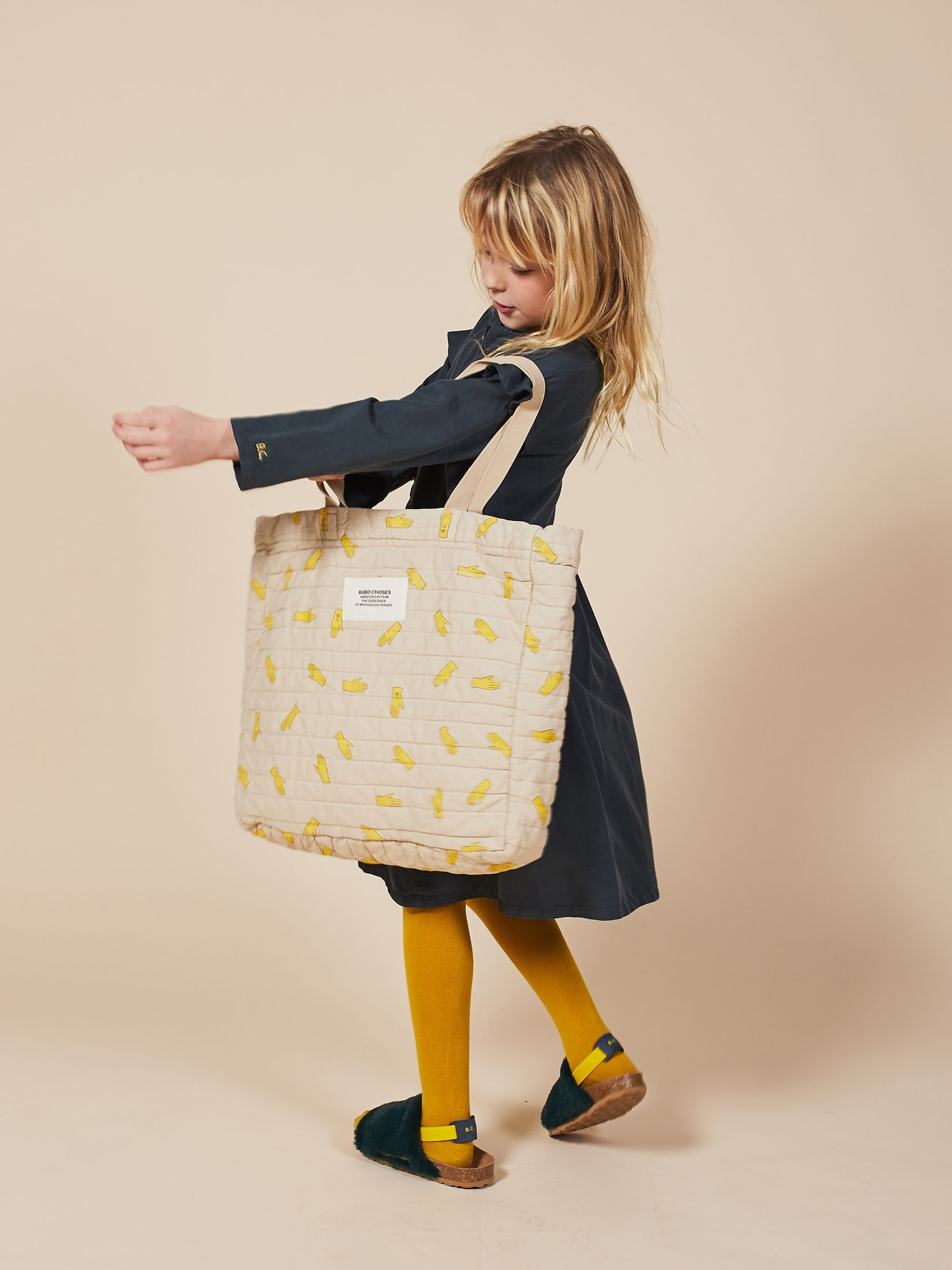 BOBO CHOSES ボボショセス Hands All Over Quilted Handbag