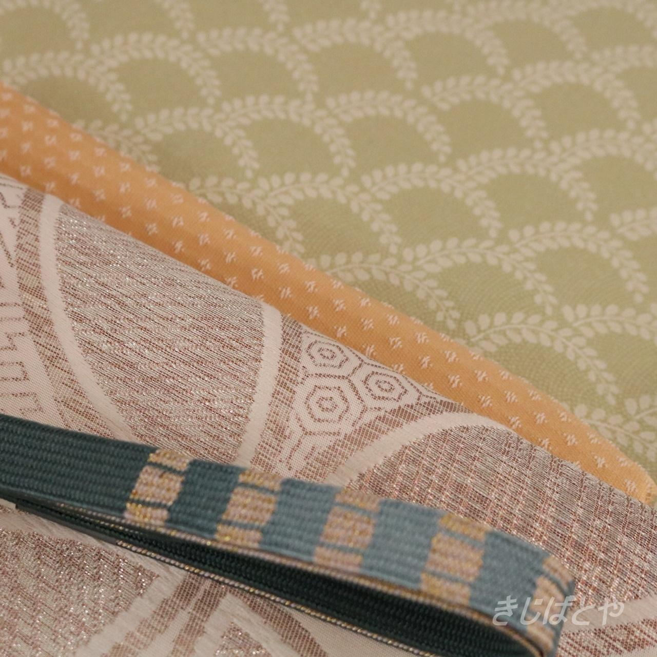 【U様ご予約品】正絹 深藍の平組の帯締め