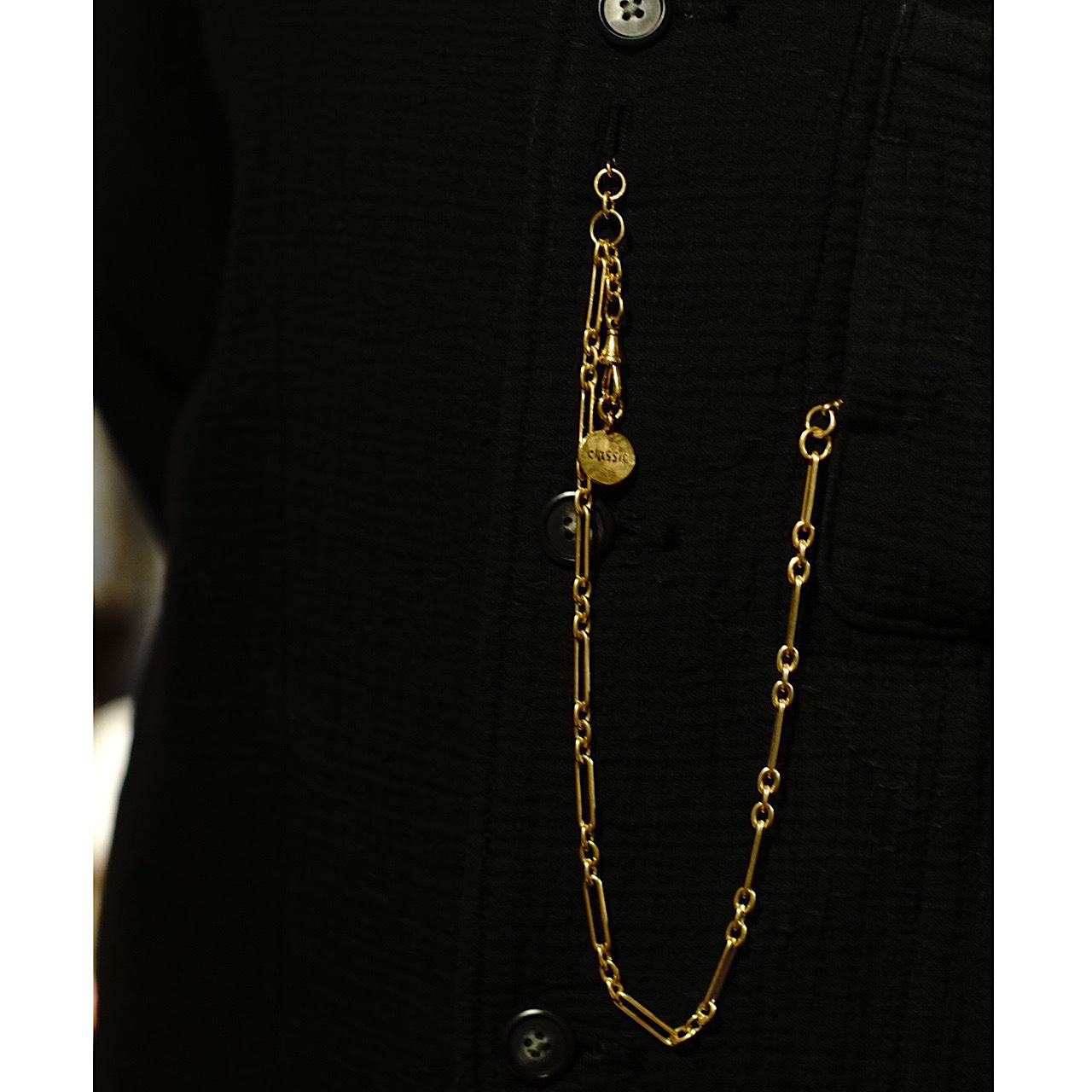 ROYALTY 3WAY WATCH CHAIN 2020 SINGLE TYPE  GOLD