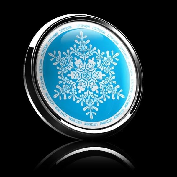 ゴーバッジ(ドーム)(CD0298 - Seasonal LET IT SNOW) - 画像2