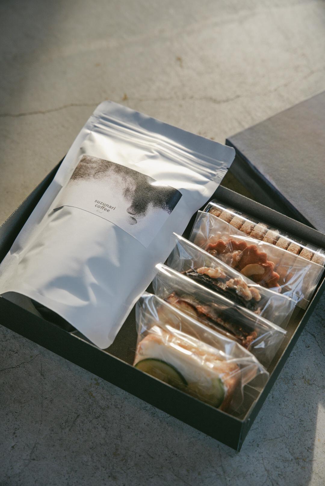 【父の日ギフト】スズナリからの贈り物 (季節の焼き菓子とコーヒー豆)