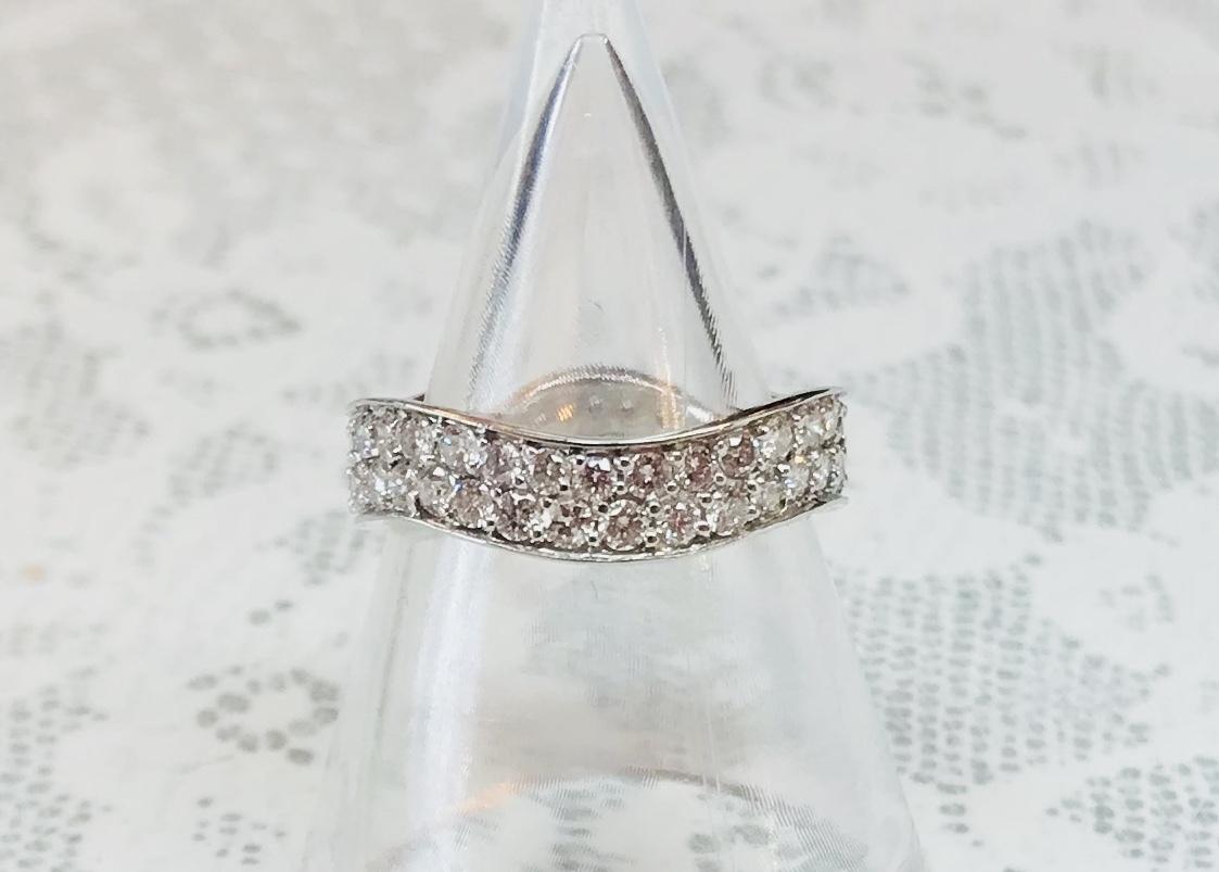 K18 WG 1.1ctダイヤモンドリング