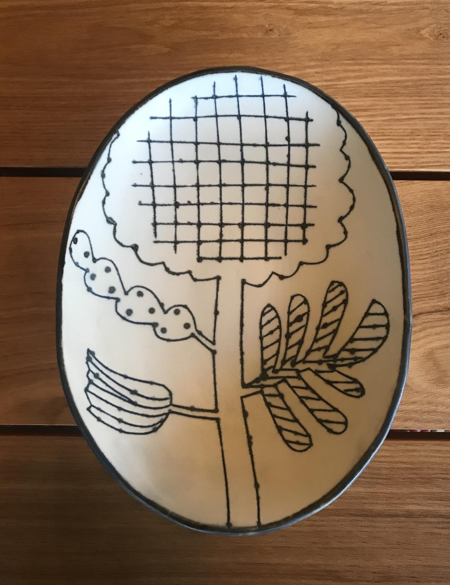 砥部焼 Atelier chie 楕円皿