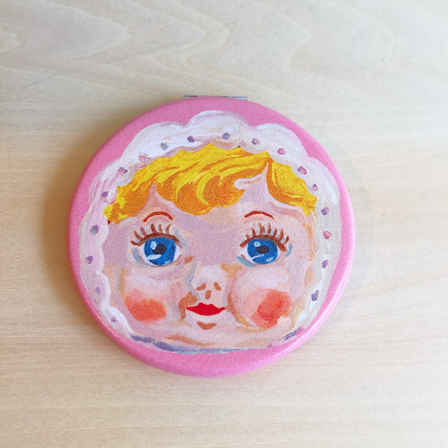 Nathalie Lete Compact Mirror Charmy Pink ナタリーレテ コンパクトミラー