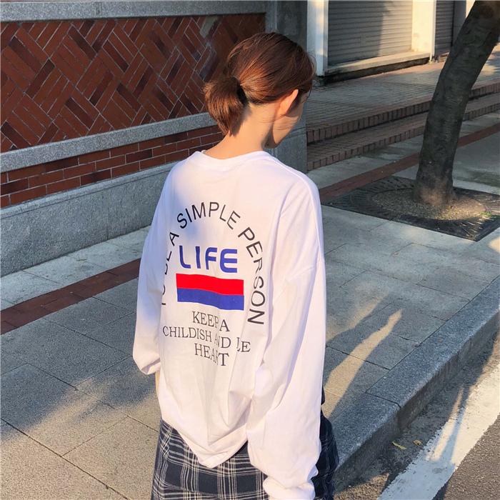 【tops】アルファベットファッションラウンドネックTシャツ22164876