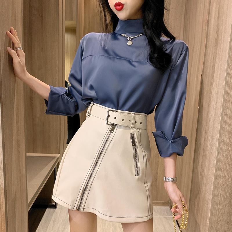 「ボトムス」ストリートファッションカコイイpuハイウエスト3色ミニスカート