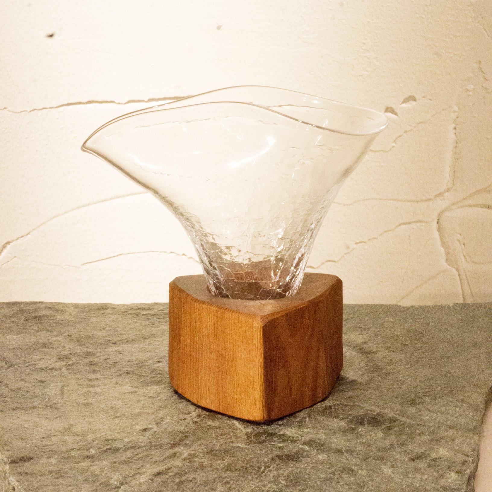 【淳工房】木Glass 片口 小 ヒビ k-39