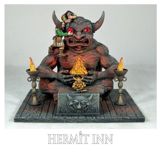 宝石の眼を持つ悪魔の彫像 - 画像1