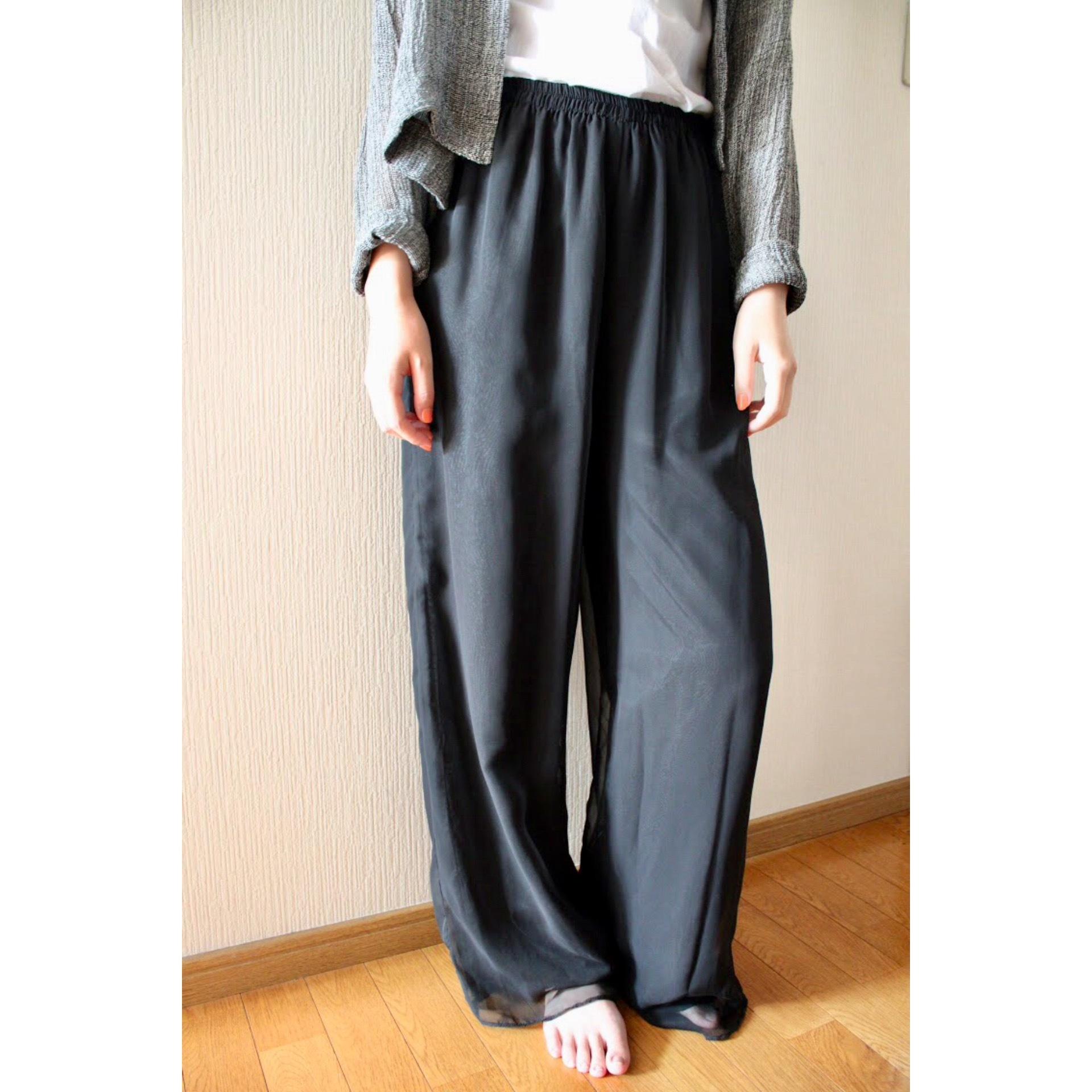 Vintage layerd wide pants