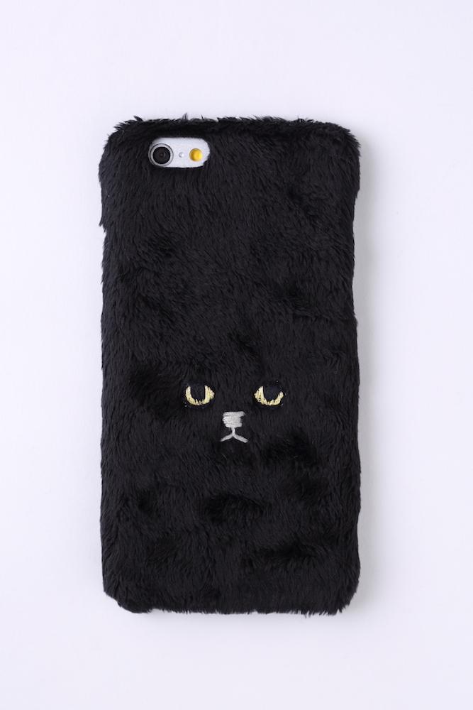 【ハードケース】ネコiPhone6/6sハードケース【ブラック】