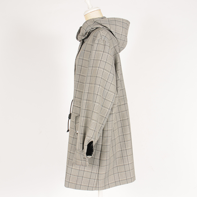 df19AW-15 GLEN CHECK MS COAT (black)