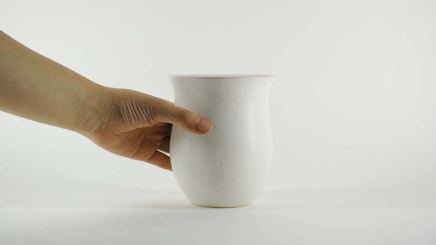 HAKUHA studio・005wt/L-size -植木鉢-