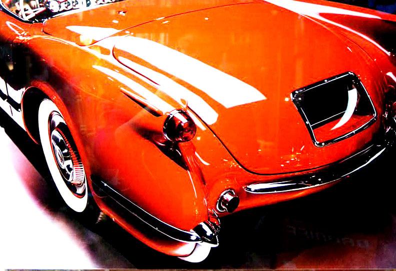 品番0077 新品 ガラスア―ト 9007 『Chevrolet Colvette シボレー コルベット』 壁飾り 飾り板 アメリカン雑貨