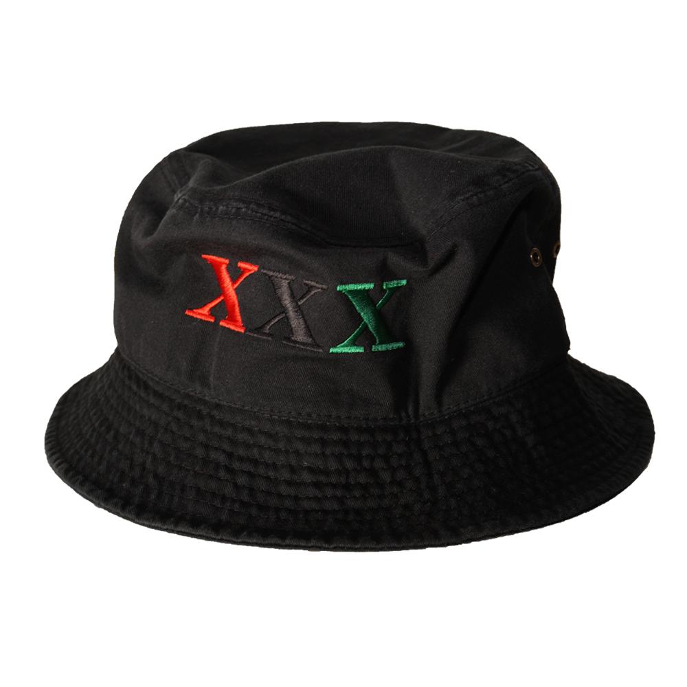 Stay Black Salute XXX BUCKET HAT (BLACK)