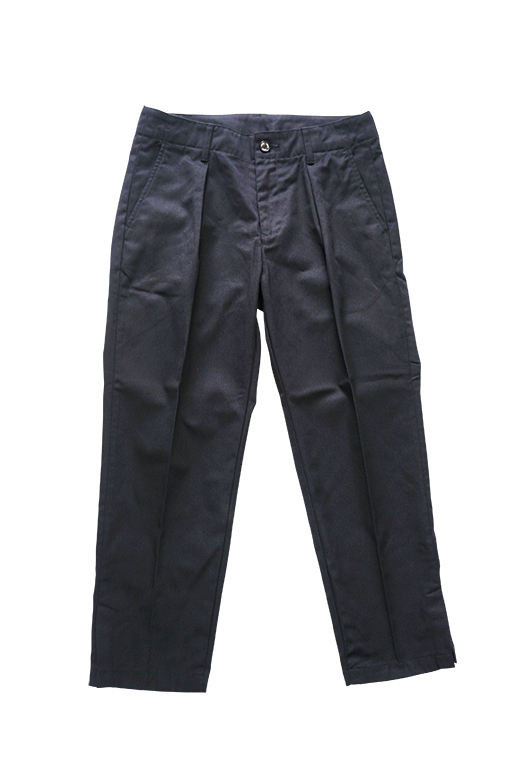 T/C TWILL WIDE PANTS (BLACK)