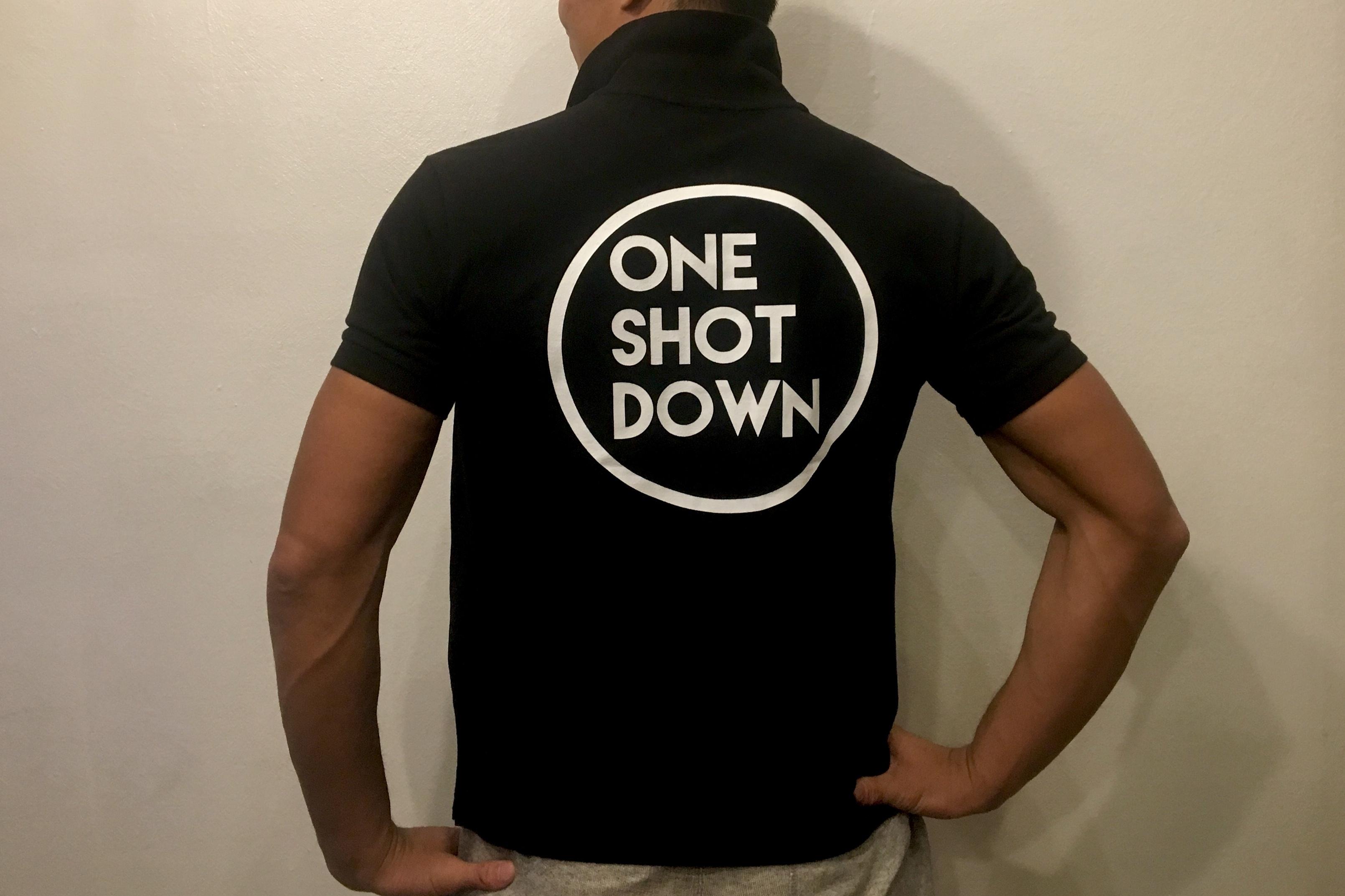 ONESHOTDOWN サークルロゴポロシャツ - 画像2