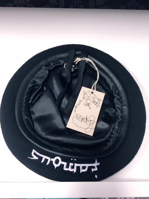 WWF☆AW17ベレー帽ブラック