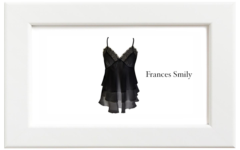 Frances Smily/フランセス・スマイリー シルクシフォンキャミソール/ブラック