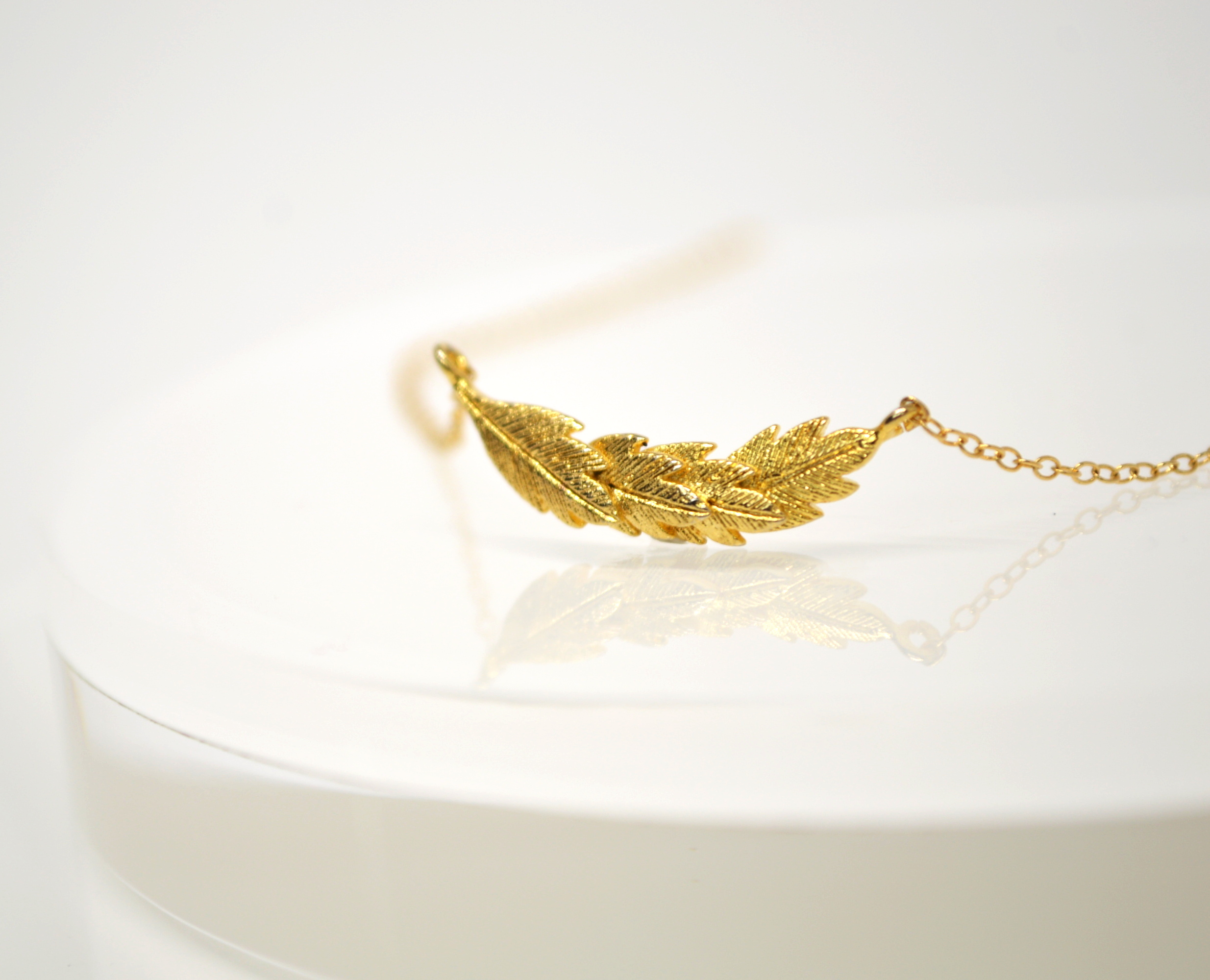 14kgf Feather Necklace