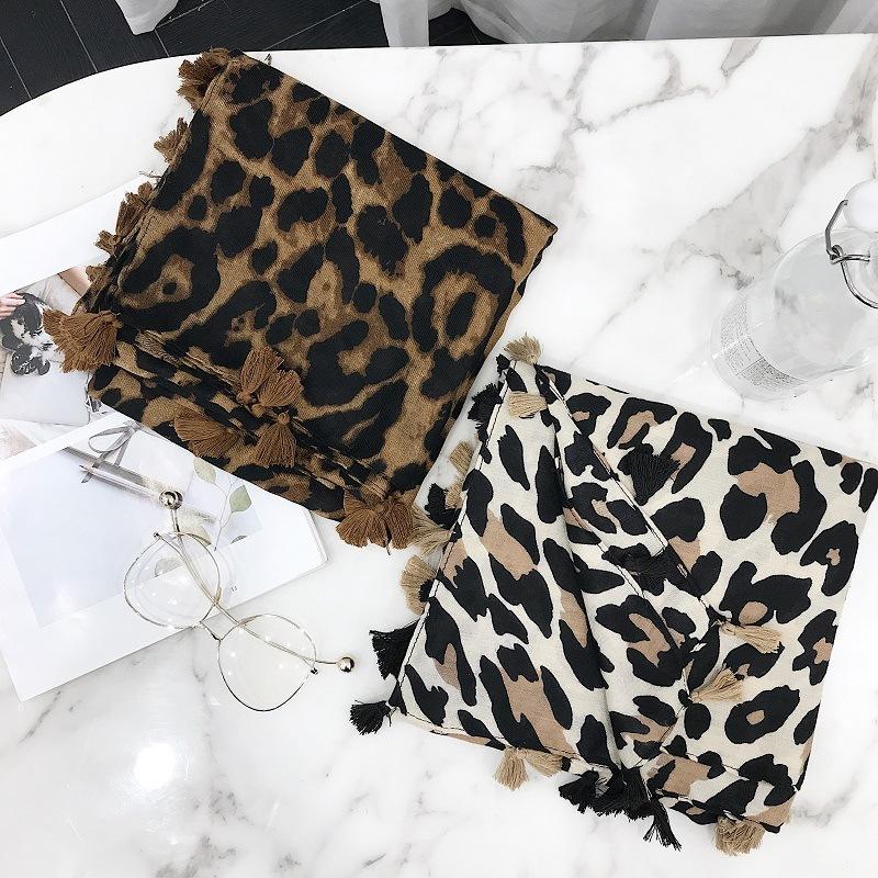 Leopard Tassel Shawl