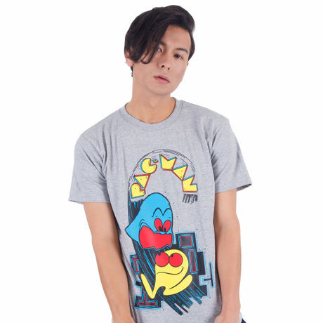 パックマン Arcade Comic`s Tシャツ (Gray) / GAMES GLORIOUS