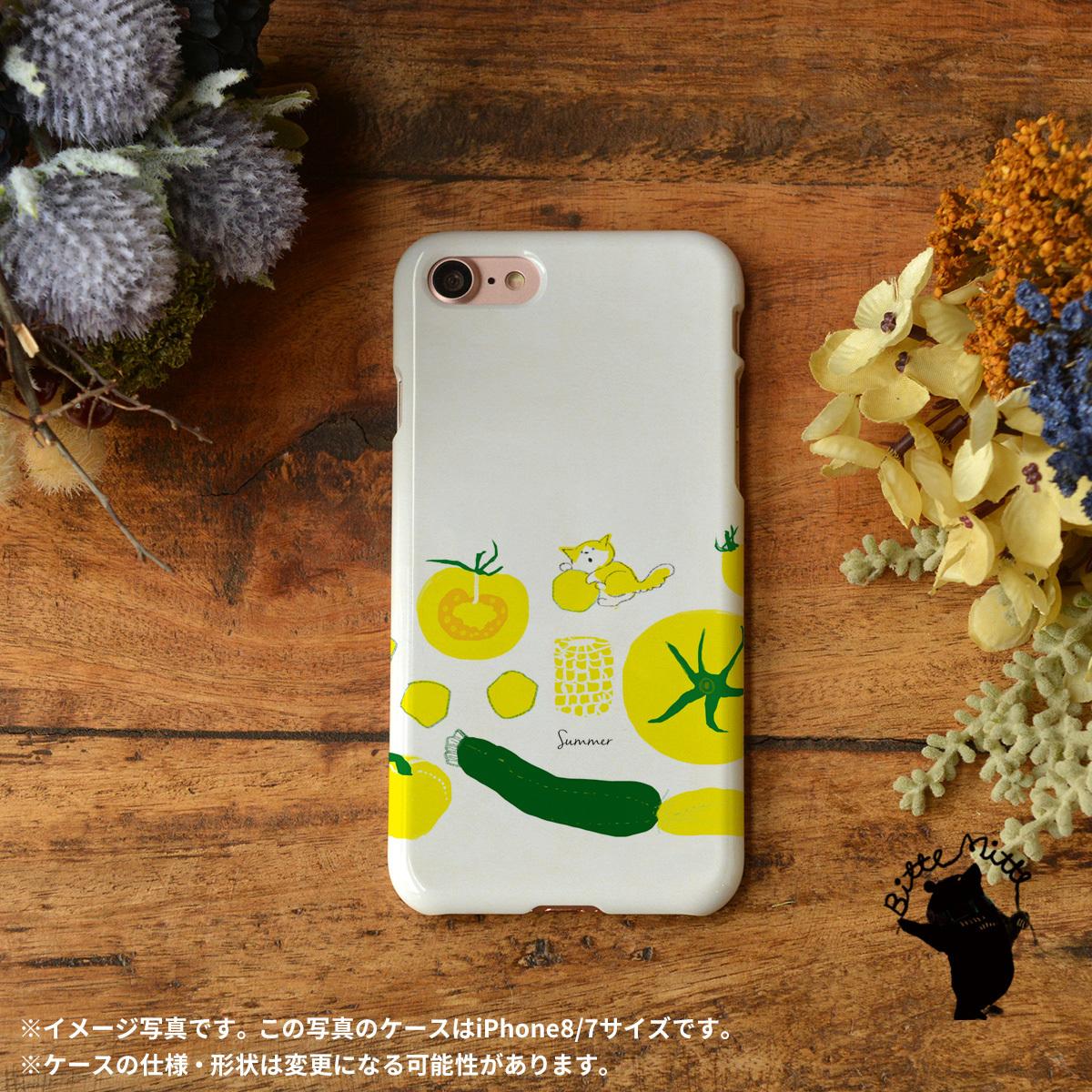 iphone8 ハードケース おしゃれ iphone8 ハードケース シンプル iphone7 ケース かわいい ハード  猫 ねこ 野菜 夏 ネコ 猫と夏野菜/Bitte Mitte!