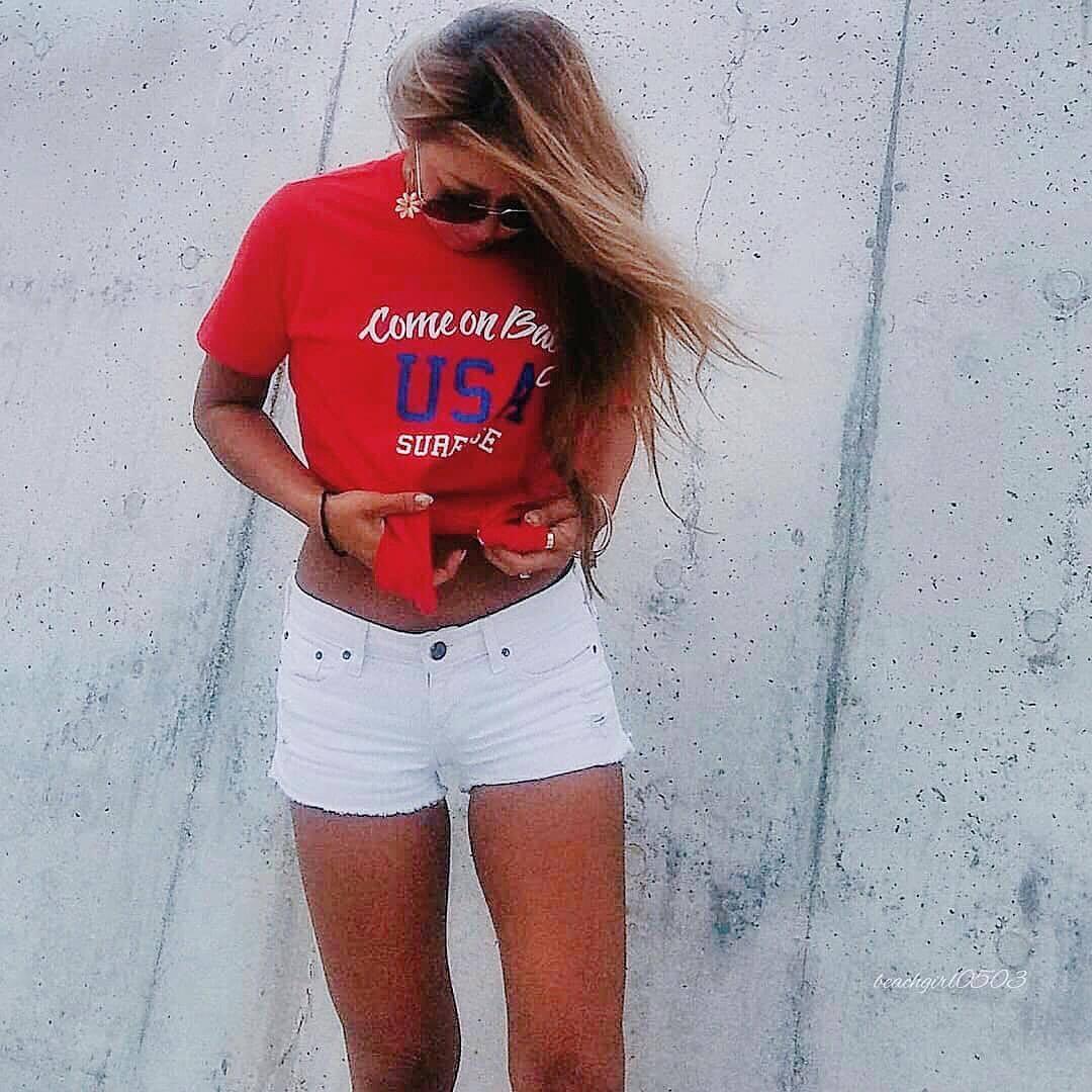 Come on baby USA Tee - Red