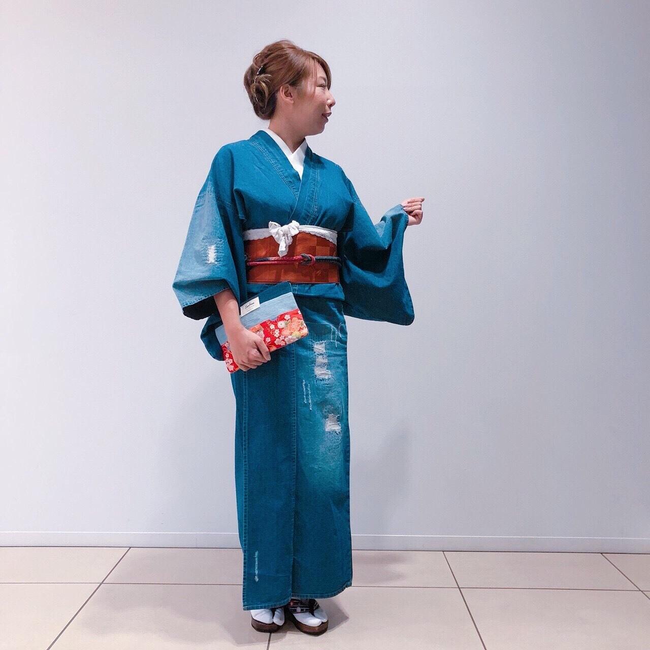 【受注生産】クラッシュ レディースデニム着物